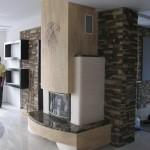 Дизайнерский камин с барельефом орла