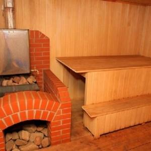 Кирпичная банная печь