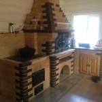 Летняя кухня с мангалом, казаном и столиком