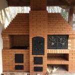 Уличный комплекс с мангалом, казаном, коптильней и духовкой